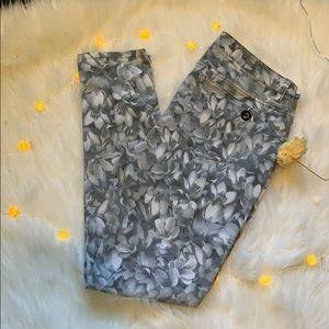 Michael Kors MK patterned jeans floral